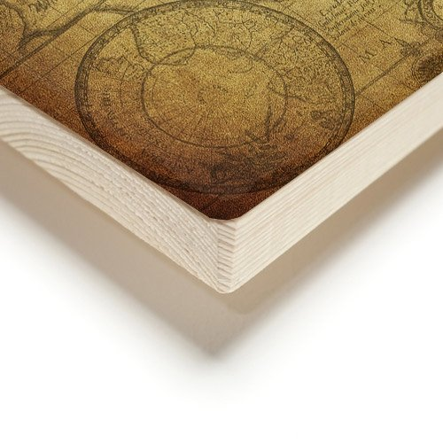 World map on wood planks
